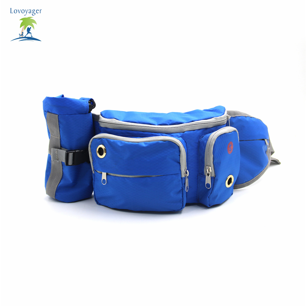 Sports Running Jogging Leash Pack Pet bag with Poop Bag Dispenser Waist Bags hiking pouch dog travel training bag