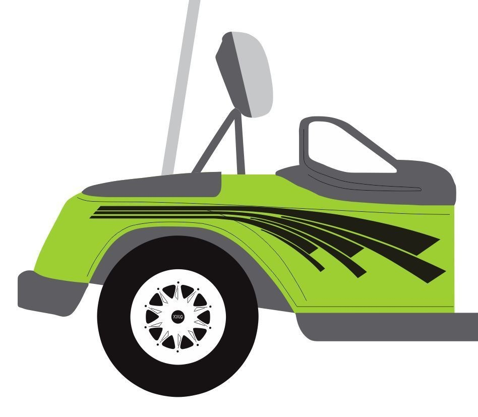 For 1Set Flare Golf Cart Decal Vinyl Graphic Sticker Kit EZ Go Club Club Car Golf Cart Decals And Graphics on race car graphics, car and truck decals graphics, golf cart wraps and graphics,