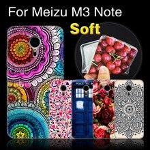 M3 nota da tampa do caso ultra fino de impressão caixa do telefone para meizu m3 note, casos de proteção capa para meizu m3note silicone tampa traseira