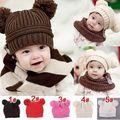 Nueva Lindo Del Niño Del Bebé Niños Niños Niñas de Punto de Ganchillo Beanie Invierno Cap Sombrero Caliente