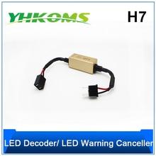 YHKOMS H1 H3 H4 H7 H8 H11 9005 HB3 9006 HB4 Canbus Error Free декодер для Светодиодный фар автомобиля предупреждающий компенсатор конденсатор