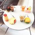 Асимметричные Серьги-капельки в виде чая с пузырьками, молочного чая, гамбургеров, забавные ювелирные украшения для девочек
