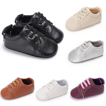 0-18M Newborn Baby Kids Sandals Children PU Breathable Antiskid Lace Up Shoes Leather Shoes 1