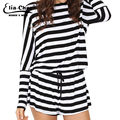 2016 summer style active striped jumpsuits chic elegant fashion plus size black and white sexy open back backless rompers