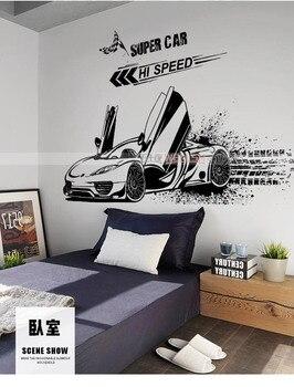 Adhesivo de vinilo deportivo para automóvil creativo con personalidad para sala de estar estudio sofá dormitorio restaurante Oficina Decoración dormitorio chico