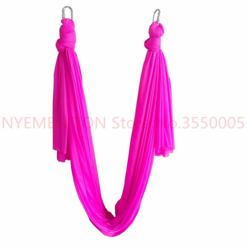 6meter length Latest Multifunction flying Yoga Hammock Swing Trapeze Anti-Gravity Inversion Aerial Traction Device 3pcs leisure decompression hammock inversion trapeze anti gravity aerial traction yoga gym swing hanging daisy chain carabiners
