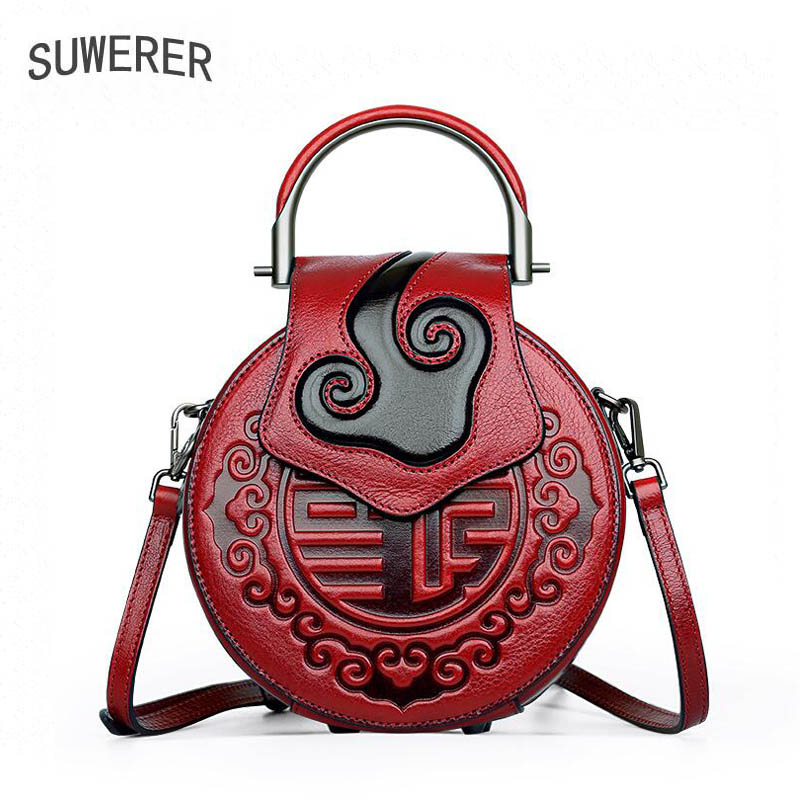 2018 New women bag Superior cowhide women Genuine Leather bags luxury handbags Embossing bag designer women handbag shoulder bag 2016 new women genuine leather bag fashion chinese style top quality cowhide embossing women leather handbags shoulder bag