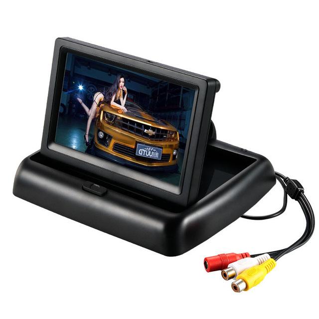Tela Lcd de 4.3 polegadas para o Gravador de Carro Invertendo Entrada De Vídeo AV Exibição