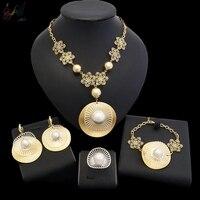 YulailiYulaili Luxury Dubai Jewelry Pearl Scallop Gold Glitter Dubai Gold Fashion Trend Important Activities Necessary.