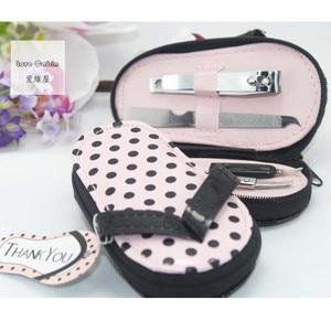Image 1 - Pink Polka Purse Slippers Shaped Cute Creative Manicure Set Wedding Gift Favors 20sets Nail tools