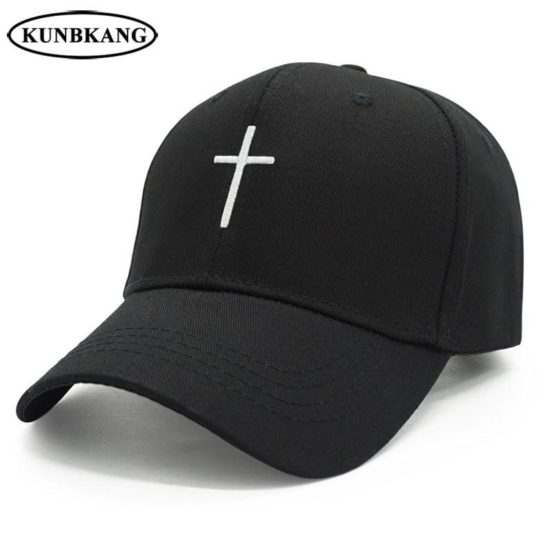 8be64af7f 2019 Embroidery Christian Cross Cotton Cap Baseball Cap Casual Snapback Hat  Hip Hop Jesus God Cap Hats For Men Women Cap