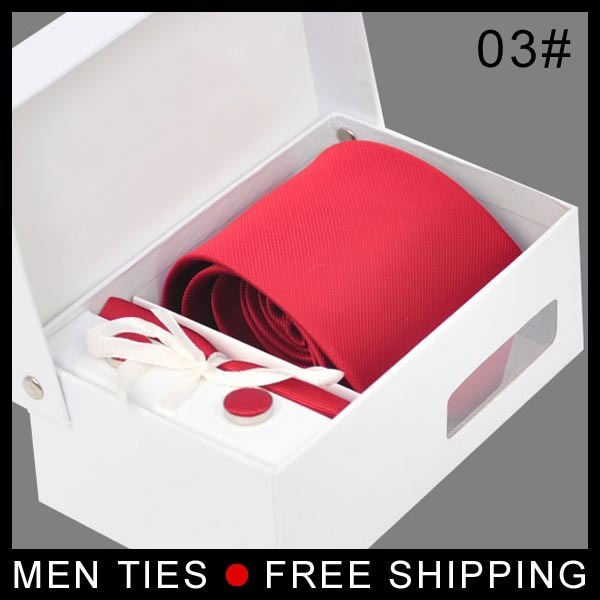 Чистый красный галстук комплект галстук запонки и галстук для мужчины 8 см перевязка комплект