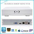 Novo MINI 4CH Onvif/XMEye NVR 1080 P P2P Nuvem 8CH H.264 Rede Gravador de vídeo CCTV NVR Sistema para Uso Doméstico Com HDMI VGA SAÍDA