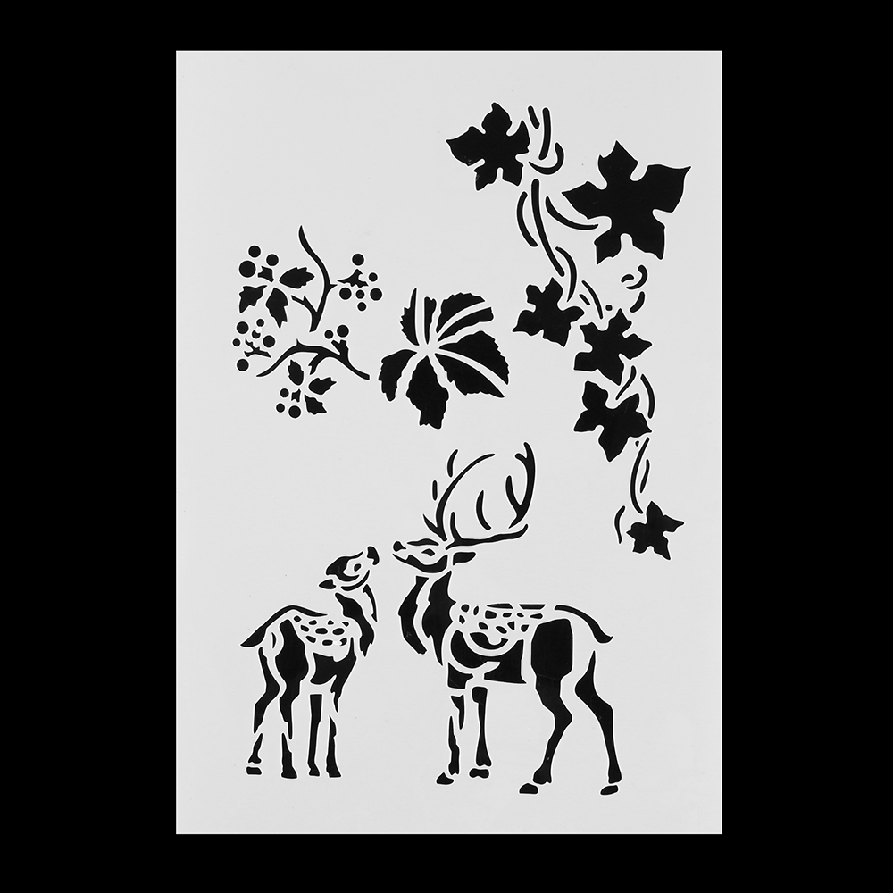 1PC Christmas Flower Template Layering Stencils For Wall Painting ...
