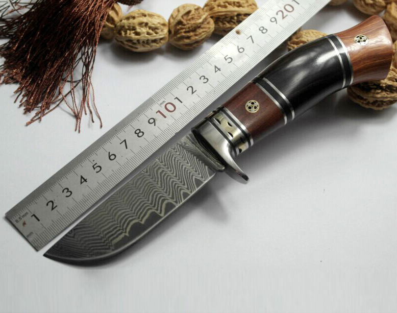 High quality Damascus steel forged straight knife hunting high hardness outdoor self-defense knife tactical army Survival knife hx outdoors brand army survival knife outdoor hunting tools high hardness straight knives for self defense cold steel knife