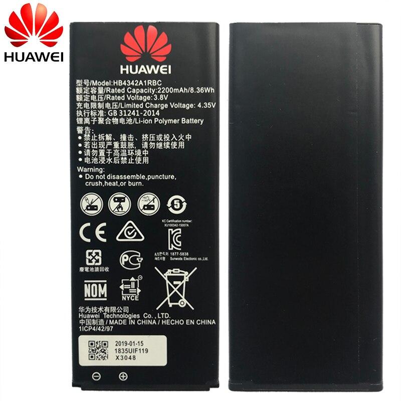 Original Huawei Telefon Batterie HB4342A1RBC Für Huawei y5II Y5 II 2 Ascend 5 + Y6 honor 4A SCL-TL00 honor 5A LYO-L21 2200mAh
