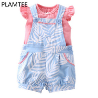 PLAMTEE New New Born Baby Clothes Cotton Short Sleeved T Shirt Rompers Shorts Suit Casual Children