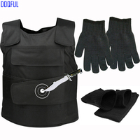 Anti cut Vest With Work Safety Stabproof Short Gloves and Arm Sleeve Outdoor Personal Self Defense Knife Resistant Clothes