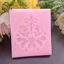 TTLIFE European Relief Silicone Mold Border Fondant Cake Pastry Dessert Decorating Tools Cupcake Chocolate Kitchen Baking Moulds ttlife twist texture rope cake border silicone mold fondant cake pastry decorating tools dessert biscuit chocolate baking moulds