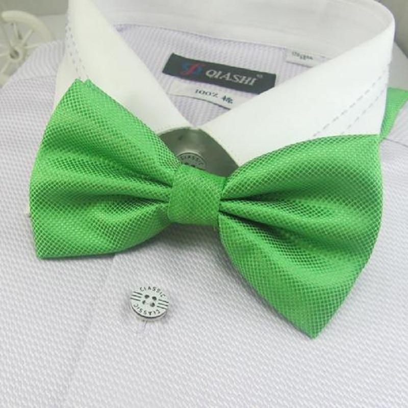 Men's Solid Color Bowties Bows Green Tie Knots Bow Ties Necktie Butterflies Neckwear
