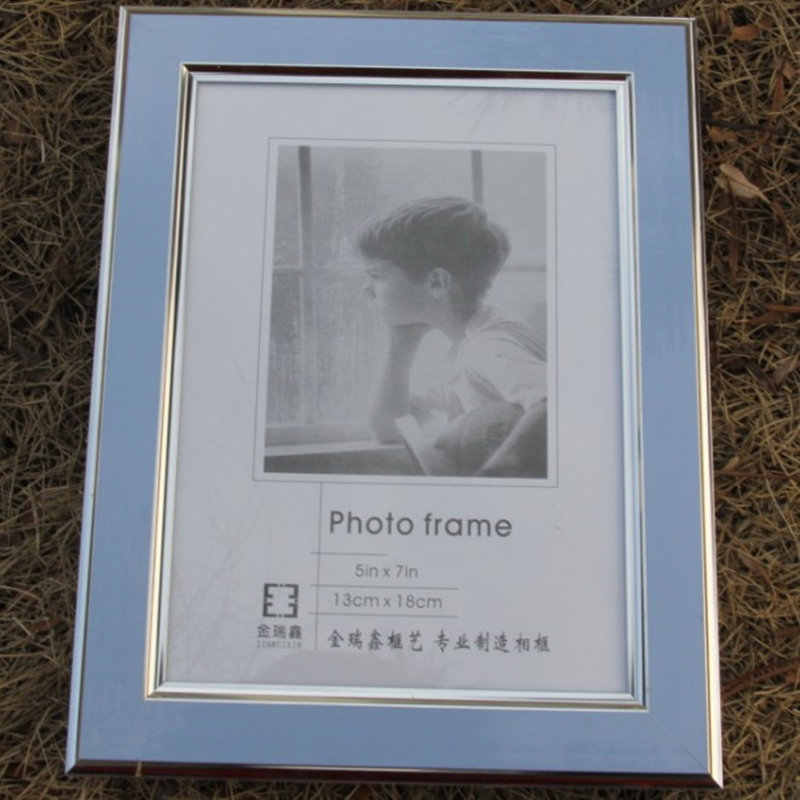 Modern Candy Color Silver-Rimmed Photo Frame New Design Plastice Picture Frame 1pcs Family Frames For Pictures marcos para fotos
