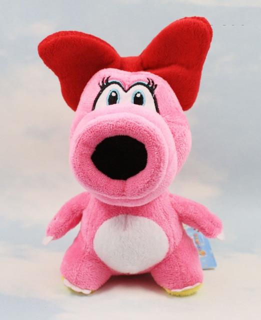 04edb7837d Super Mario Plush Birdo 16cm Pink Color Stuffed Animals Plush Dolls Open  Mouth Stand On The Floor Free Shipping