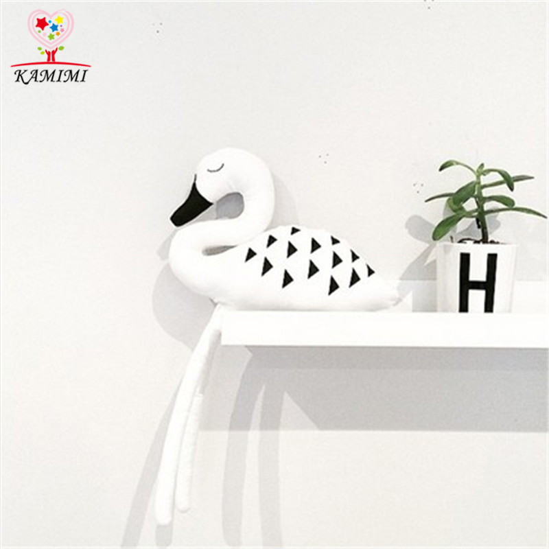 Kamimi New Cute White Swan Baby Pillow Cushion Cartoon Swan Flamingo Toy Decoration Infant Kids Room Xym459 To Win A High Admiration And Is Widely Trusted At Home And Abroad. Pillow