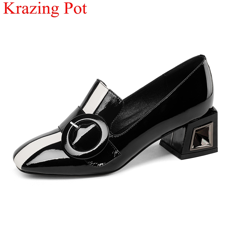 2019 superstar large size slip on mixed colors office lady high heels women pumps square toe