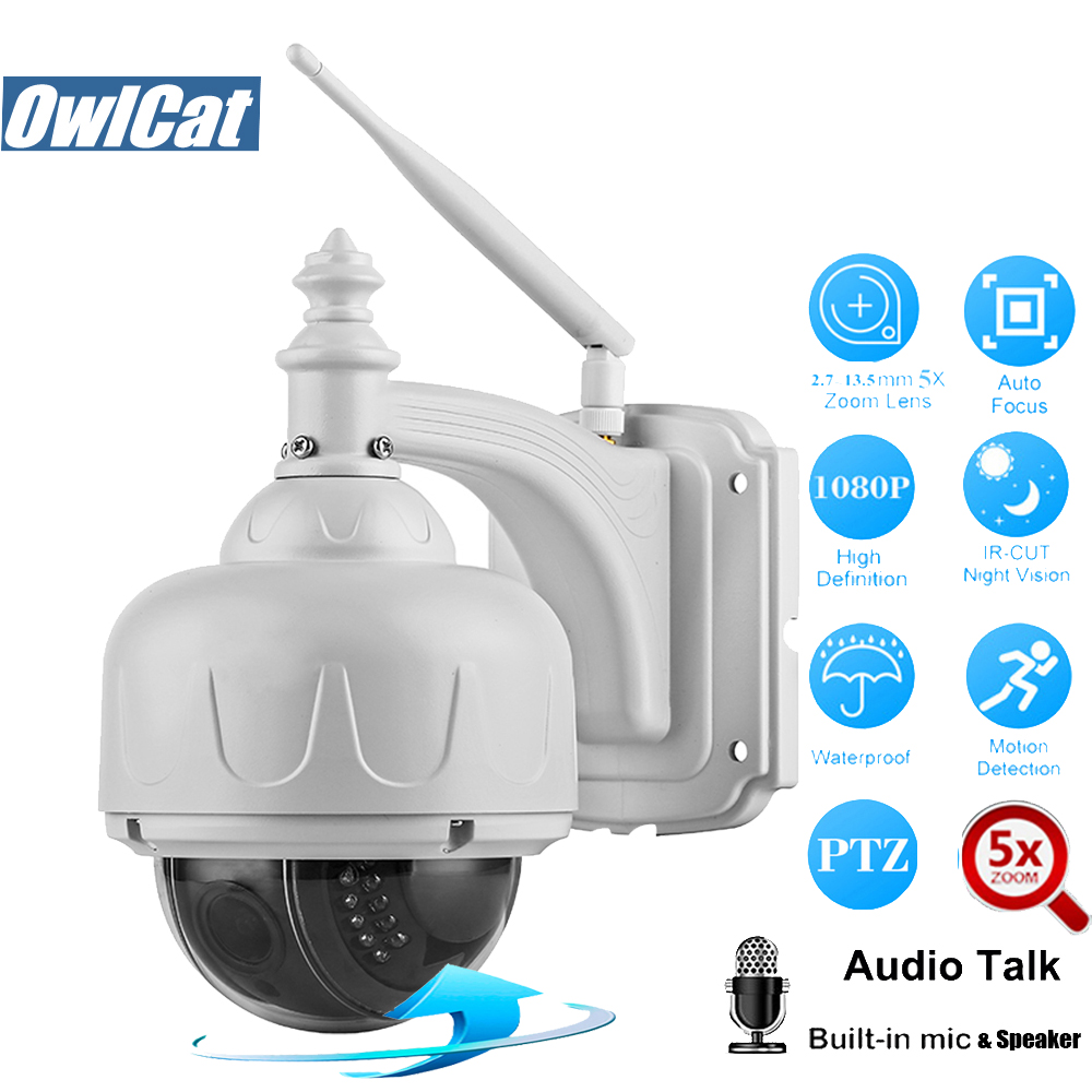 OwlCat HD 1080P PTZ IP Camera WiFi Outdoor Waterproof 2 7 13 5mm 5X Optical Zoom