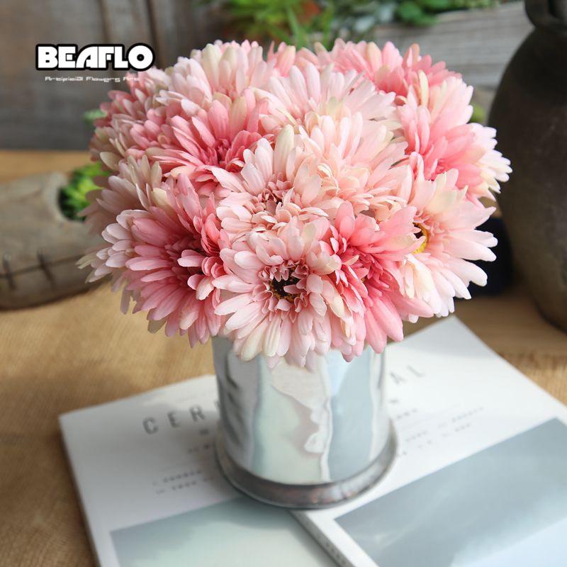 Flor de seda nupcial ramo de la boda girasoles flores artificiales - Para fiestas y celebraciones