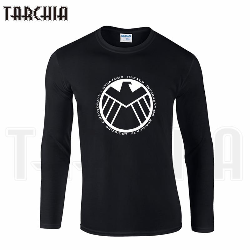TARCHIA Brand Strategic Homeland Intervention Enforcement Logistics Division Men Clothing Tee Long Sleeve T-Shirt Cotton Plus