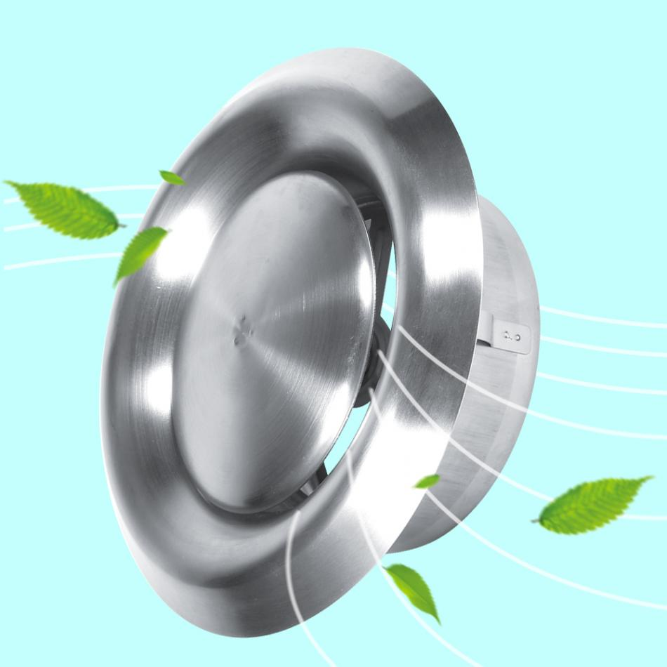 Round Air Vent Adjustable Wall Ceiling Home Stainless