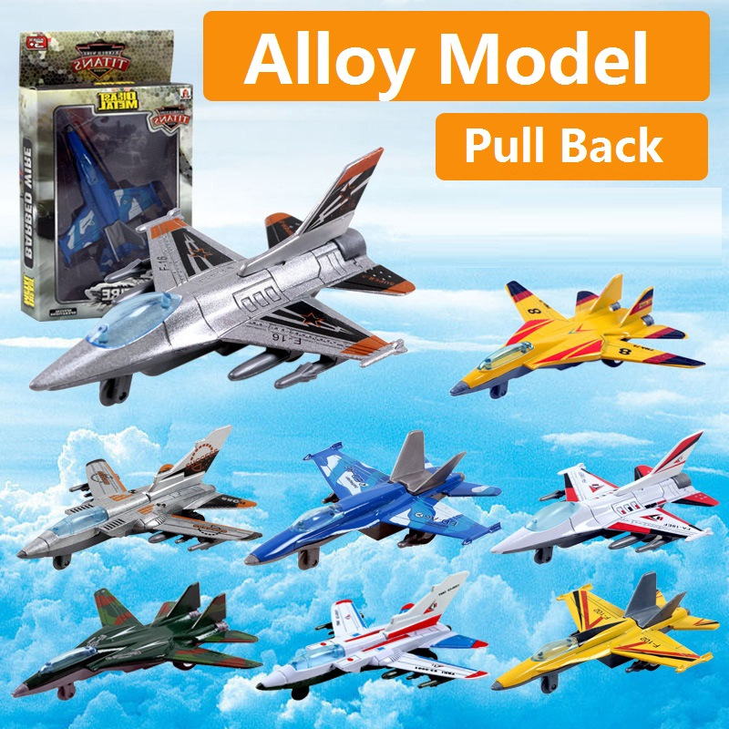 COOL Fighter Alloy Combat Aircraft Military Aviation Model Pull Back Metal Combat Aircraft Plane Toys For Children Best Gift