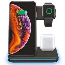 FDGAO 15W Qi Caricatore Senza Fili 3 in 1 di Ricarica Veloce Del Basamento Del Bacino Per Apple Osservare 5 4 3 2 iPhone 11 Pro X XS XR MAX 8 Airpods iWatch