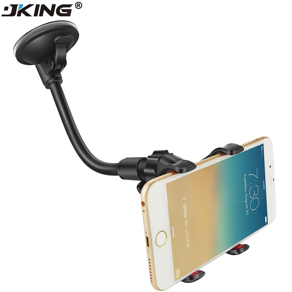 JKING Car Phone Holder, Flexible 360 Degree Adjustable Car Mount Mobile Phone Holder For Smartphone 3.5-6 inch Support GPS