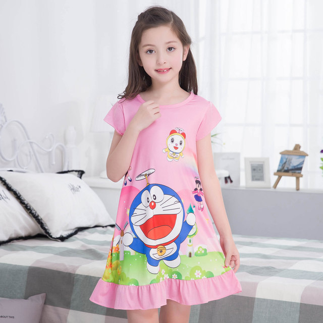 696723aa8f 2018 New Listing Children Clothing Summer Dresses Girls Baby Pajamas Cotton  Princess Nightgown Kids Home Cltohing Girl Sleepwear