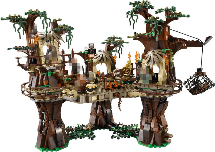 Free shipping 1990pcs Lepin 05047 Ewok Village Building Blocks Juguete para Construir Bricks Christmas Gift font