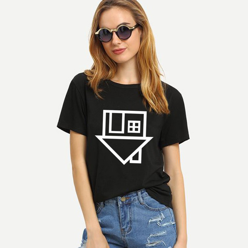 Plus Size S-XXL Fashion Summer T Shirt Women House Printed T-shirt Women Tops Tee Shirt Femme New Arrivals Hot Sale Casual Style 2016 brand clothing t shirt men v for vendette anonymous mask printed t shirt man funny tops tee shirt plus size s xxxl