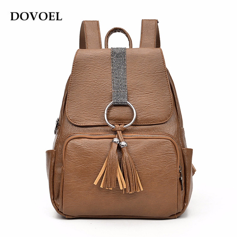 DOVOEL Backpack School Bag New Design Preppy Style Female Girls Travel Back pack Lage Capacity Ladies Pu leather Mochila BV259X