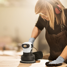 DEKO QD6206R 280W Random Orbit Sander  with 15 Sheets of sandpaper Dust exhaust and Hybrid dust canister