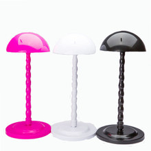 High Quality Plastic Wig Display Stand Mannequin Dummy Head Hat Cap Hair Holder Foldable Stable Tool Mushroom Head Wig Stand(China)