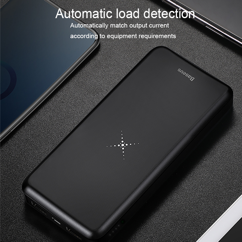 Image 4 - Baseus 10000mah Power Bank Wireless Charger Fast Charging for iPhone Samsung Xiaomi Huawei Dual USB Charge External Battery Pack-in Power Bank from Cellphones & Telecommunications