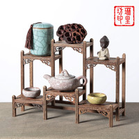 Wooden Standing Decorative Shelves Household Craft Ornaments Display Shelves Decoration Craft Place Frame Chinese Style Woodware