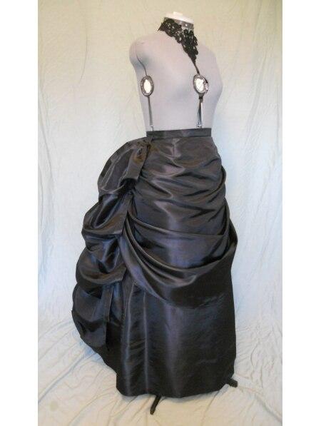 Black Victorian Bustle Skirt / Victorian  Skirts