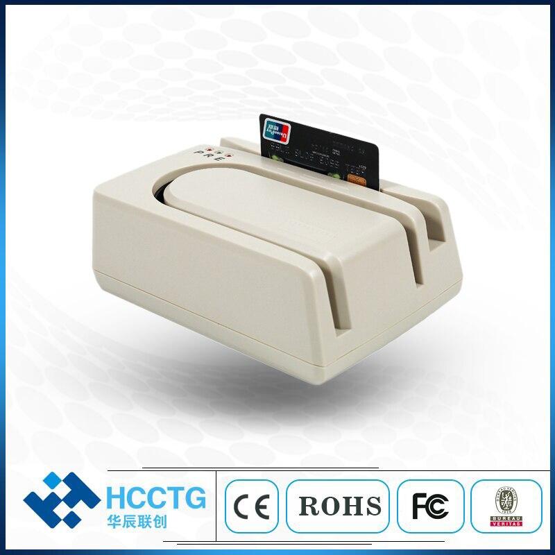Lecteur de carte USB MSR lecteur de contrôle Micr avec Module magnétique 1/2/3 Magstrip HCC1250U