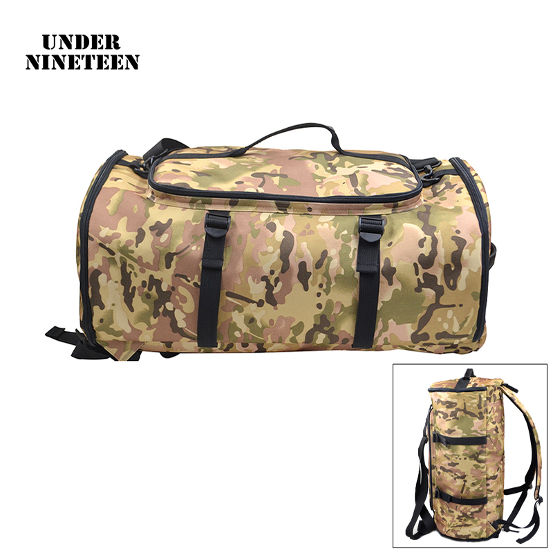 Under Nineteen High Capacity Travel Bags New Arrival Cylinder Men Backpack Hand Luggage Multi function Men Rucksack Versatile