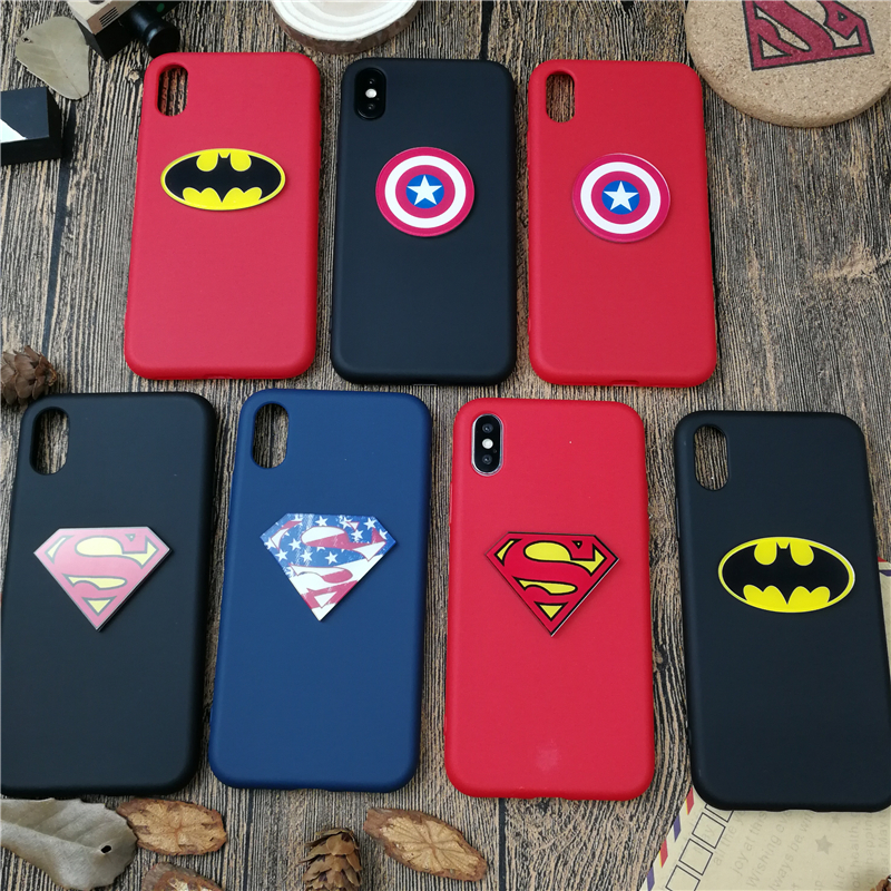 Marvel Batman Kapitän Superman fall für <font><b>iphone</b></font> 11 PRO X XS MAX XR 10 8 7 6 6s plus <font><b>5</b></font> 5s se weiche matte silikon telefon abdeckung coque image