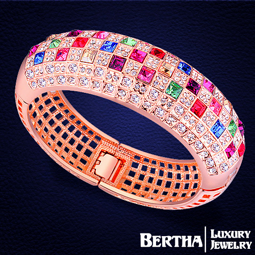 Luxury Classic Queen Bracelets Pulsera With Swarovski Elements Austria Crystal Rose Gold Bracelets & Bangles Wedding Jewelry
