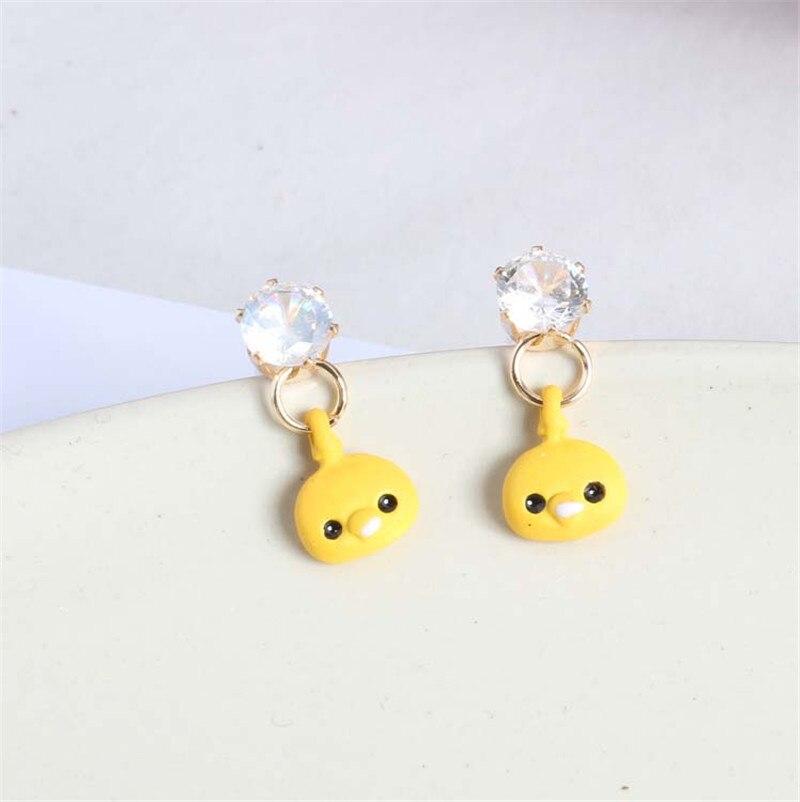 2018 New Arrivals Hot Fashion Animal Yellow Chick Earrings Brincos Oorbellen Long Statement Tassel Drop Earrings Women Jewelry