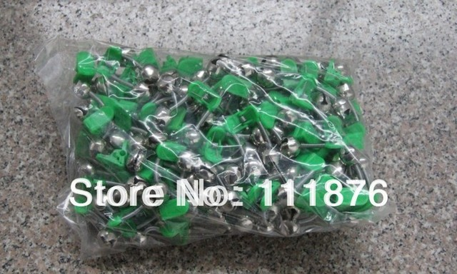 100PCS BELLS WITH CHEMICAL LIGHT HODER (CLIP) Fishing Tackle